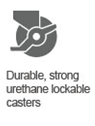 Durable casters